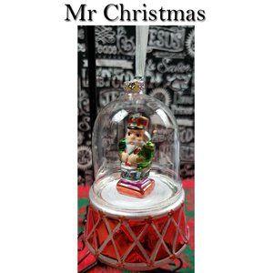 Mr Christmas Musical Rotating Glass Ornament
